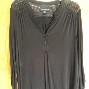 Black buttoned top. Size Medium.
